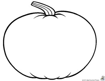 Pumpkin Pattern Front and Back | Pumpkin coloring template ...