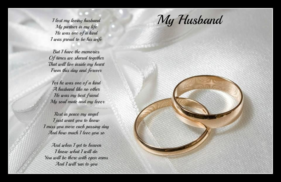 For those who have lost a Husband | In Memory~ Loss~ Family~Pets