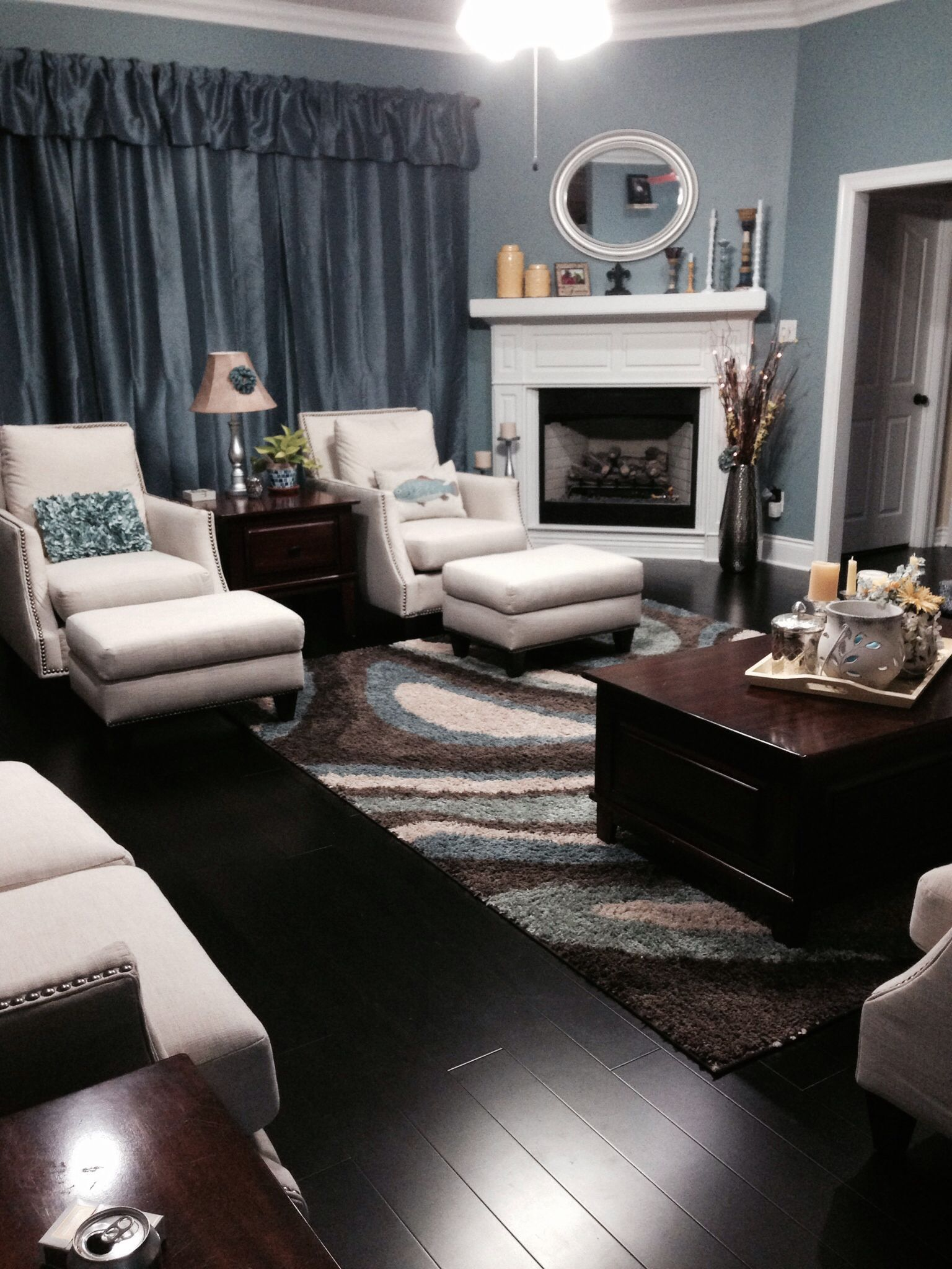 New Living Room Deco With Dark Bamboo Floors Decorating