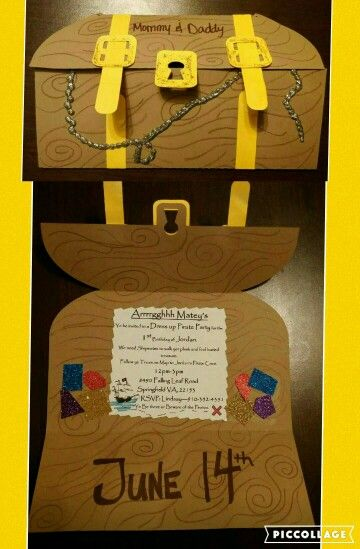 Schön Pirate Treasure Chest Birthday Invite Made With Silhouette
