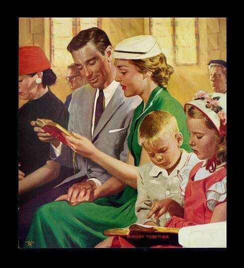 Αποτέλεσμα εικόνας για happy families in 1950s