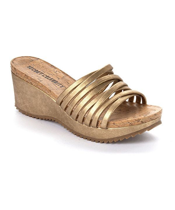693912b415a Look at this Secret Celebrity Soft Gold Energy I Wedge Sandal on  zulily  today!