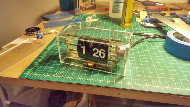 DIY Exposed Flip Clock | Clock, Flip clock, Diy clock