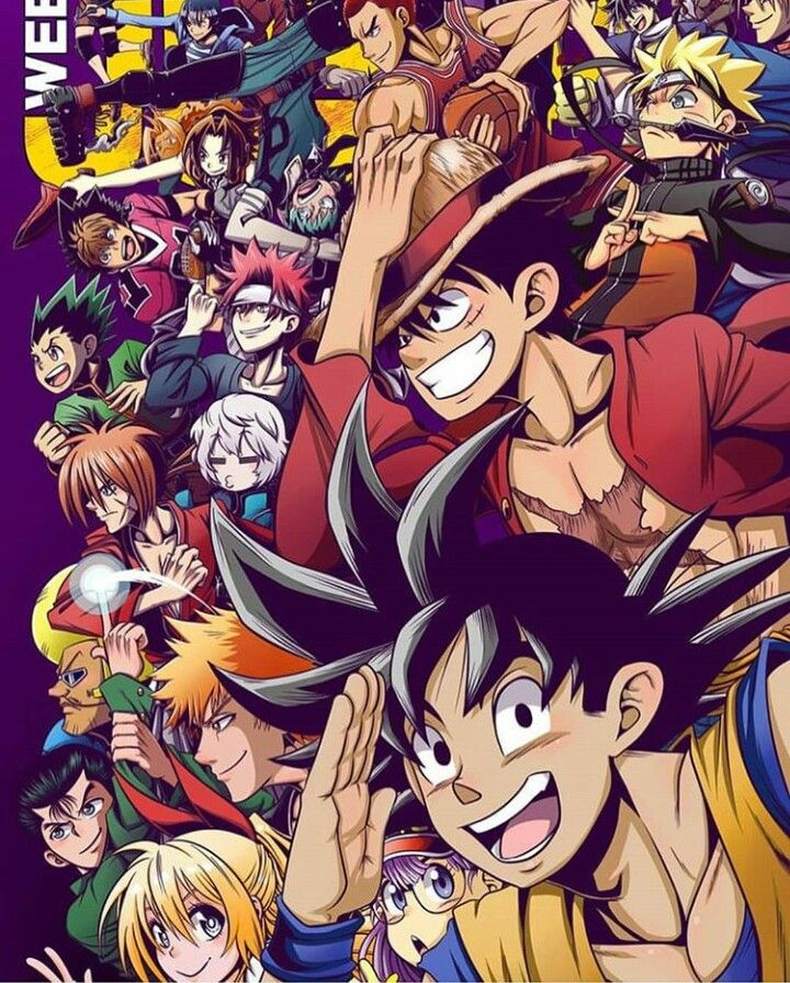 SHONEN JUMP ANIMES IMMA NAME THE CHARACTERS I KNOW GOKU