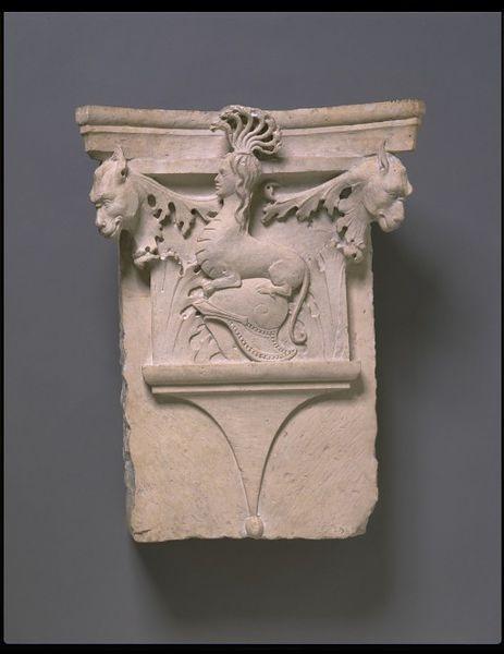 Capital | Martini, Francesco di Giorgio |[Italy] (made)  Date: ca. 1483-1490 (made)  Artist/Maker: Francesco di Giorgio, born 1439 - died 1501 (maker)  Materials and Techniques: Istrian stone