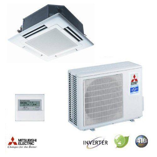 Mitsubishi Mr Slim Plaa18ba4 Puza18nha4 208 230v 1 Ph 13 6 Seer 18 000 Btu R410a Ceiling Recessed Ductless Mini Split Heat Pump System