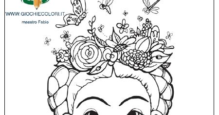 Frida Kahlo Spiegata Ai Bambini Disegni Da Colorare Frida Kahlo