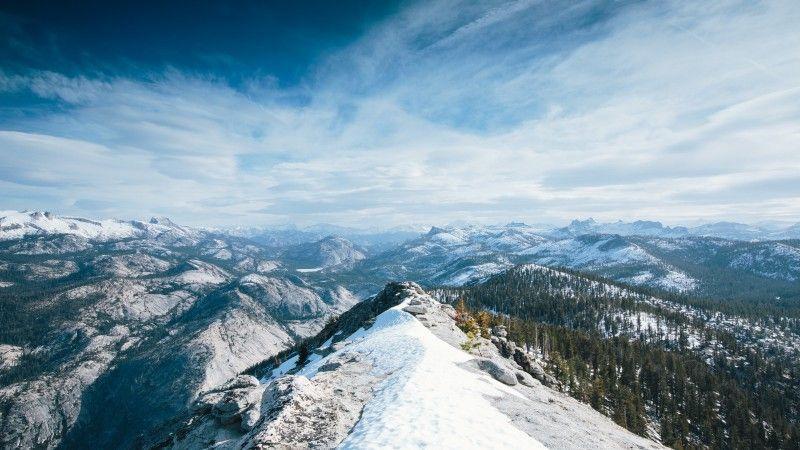 2019 的 Yosemite, 5k, 4k wallpaper, 8k, winter, snow