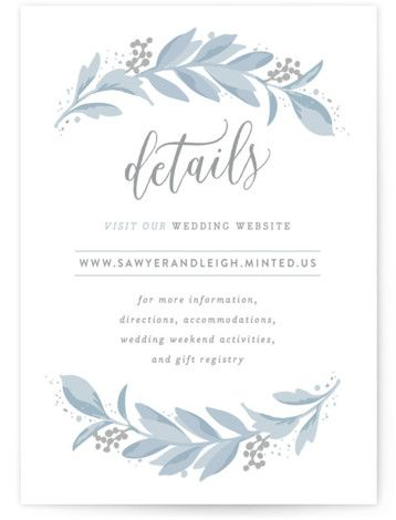 Photo of Modern Wreath Directions Cards