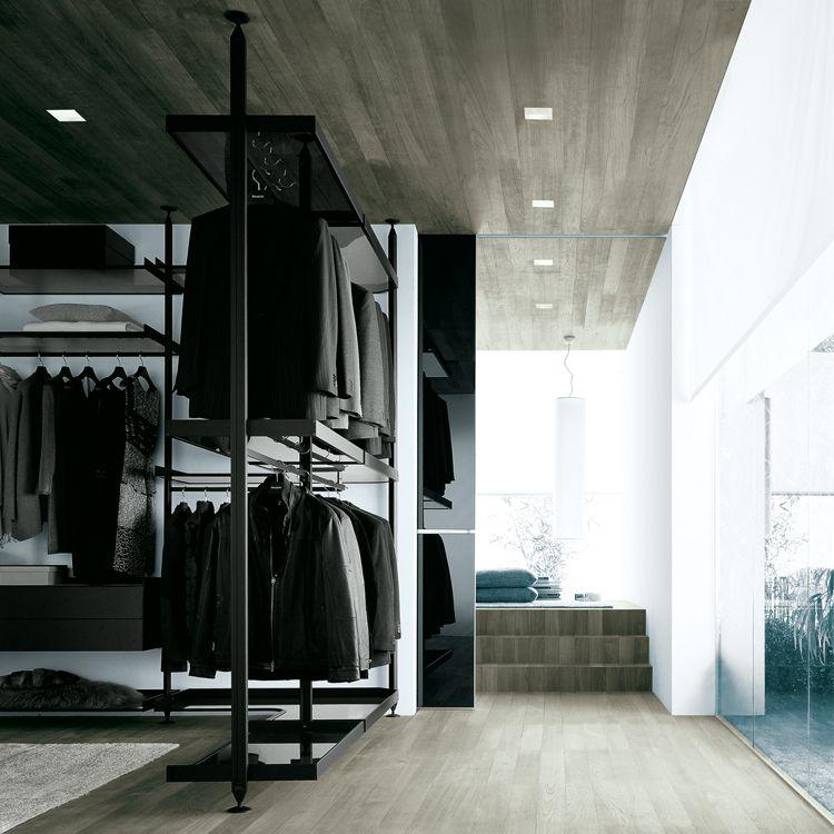 Rimadesio - Zenit, cabina armadio in alluminio e vetro - walk ...