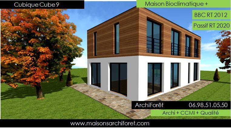 maison toit terrasse ossature bois Maison bois Pinterest