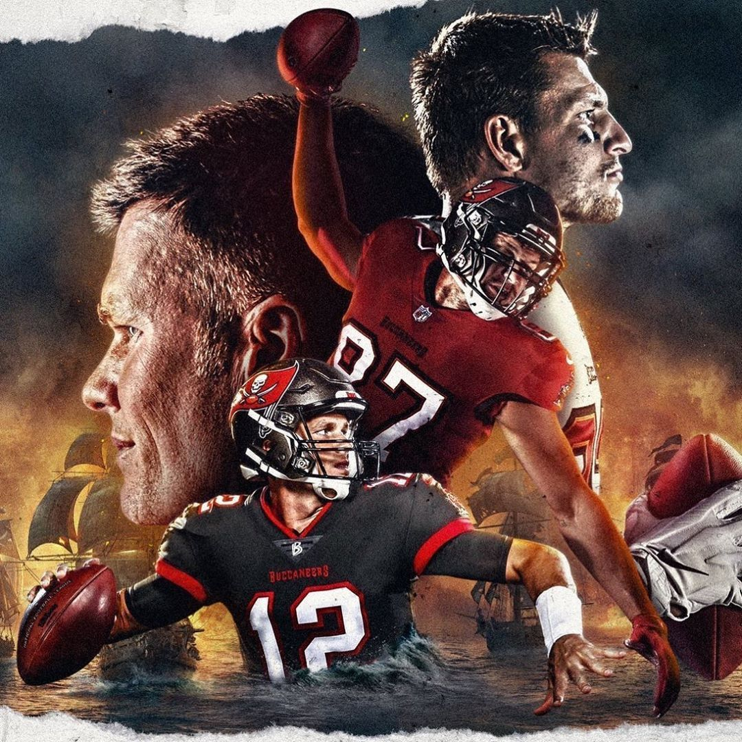 253 Likes 4 Comments Official Goat Gear Goat Gear On Instagram Football Is Coming Or Is It Gronk Brady T Tampa Bay Tampa Bay Buccaneers Gronk