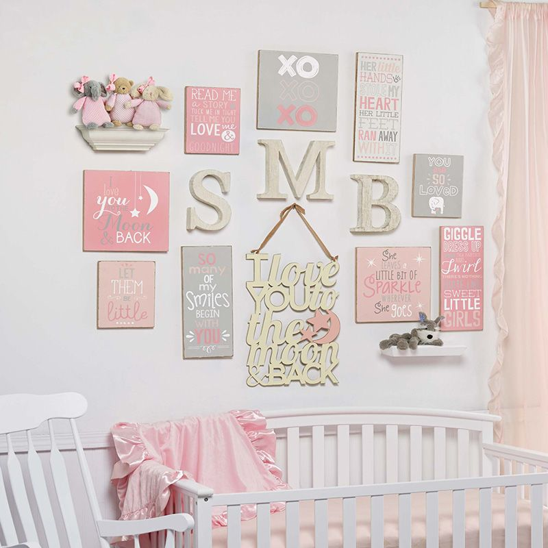 Soft And Elegant Gray And Pink Nursery: Perfect For Newborn Nursery. Pink