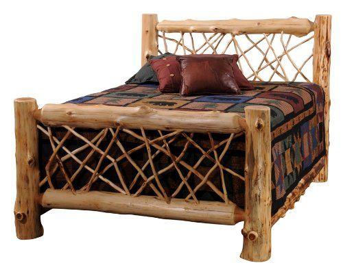 Cedar Twig Style plete Log Panel Bed King Fireside Lodge