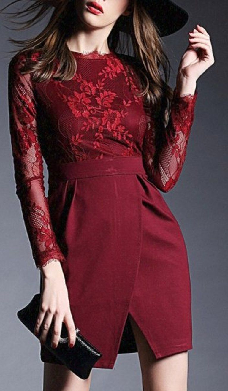 Chic long sleeve ruffled collar slimming seethrough pure color