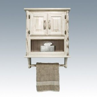 Pine Log Bathroom Wall Cabinet. You can get this ...