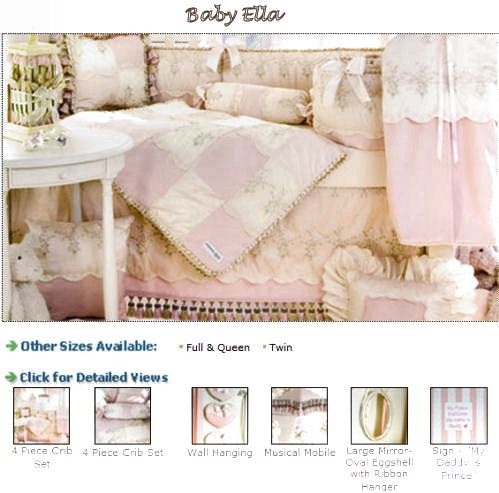 Pink And Ivory Cream White Antique Vintage French Toile Baby Bedding Nursery Crib