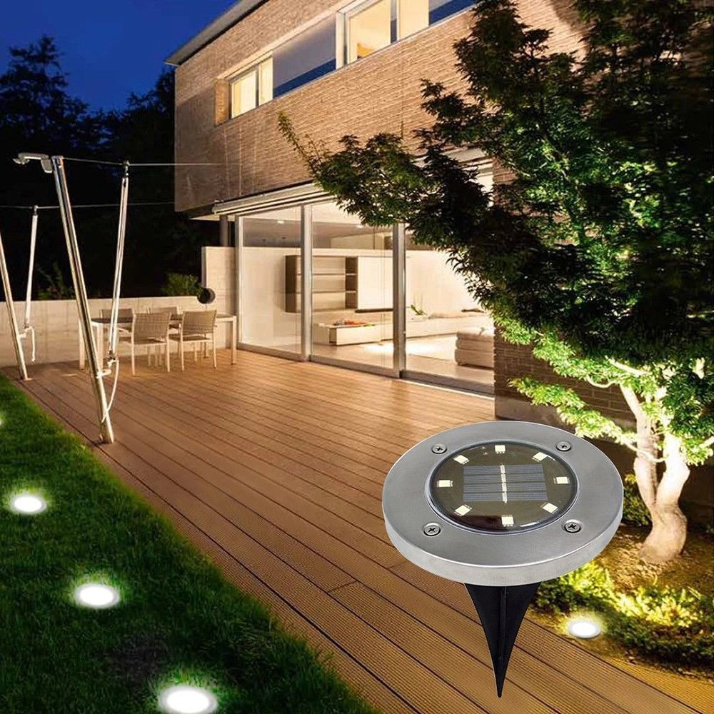 Way Light Outdoor Power Lamp Under Solar Led Path Ground Buried N8w0vnm