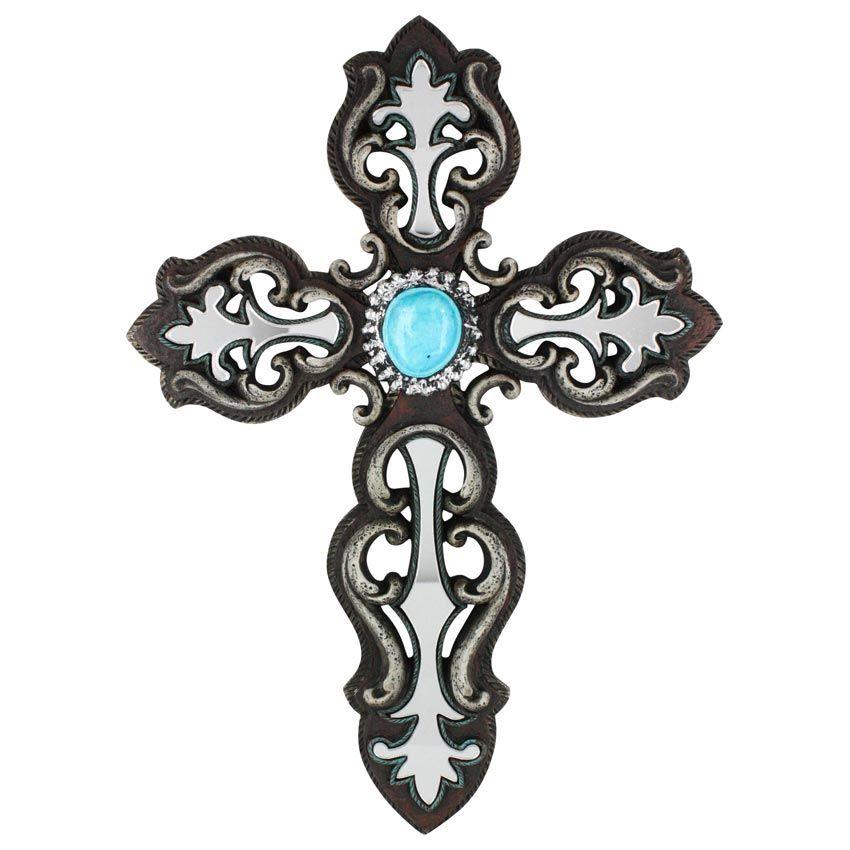 M&F Mirror Inlay Western Cross Wall Decor | Country | Pinterest ...