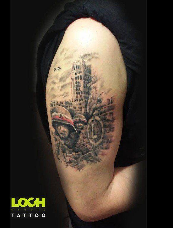 Tatuaż Patriotyczny Loch Loch Studio Tatuażu At Lochstudio