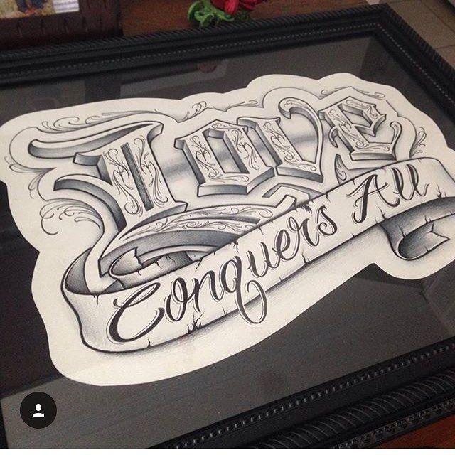 """845 Synes godt om, 11 kommentarer – Letteringcartel (@letteringcartel) på Instagram: """"Love conquers all by @molassesjones from Powell Ohio @molassesjones @molassesjones #letteringcartel…"""""""