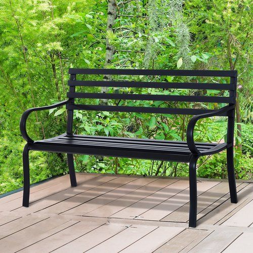 Shaunda Steel Bench Sol 72 Outdoor In 2019 Products Porch Chairs