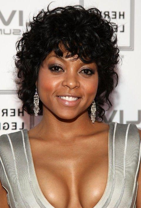 Black Short Curly Hairstyles Prepossessing Afroamerican Curly Haircut Taraji Phenson's Black Curly