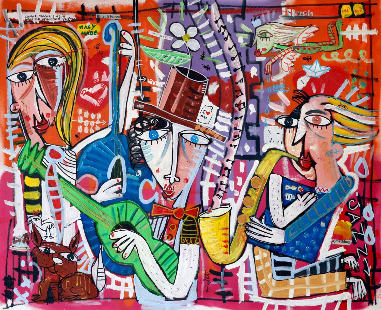 Dipinto moderno olio su tela arredamento quadri moderni for Quadri per soggiorni moderni