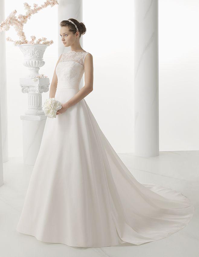 1c0668c3c0 Álomszép menyasszonyi ruhák a Rosa Clará Almanovia kollekciójából a La  Mariée Budapest szalonban. Kölcsönözzön elegáns esküvői ruhát, akárcsak ezt  a ...