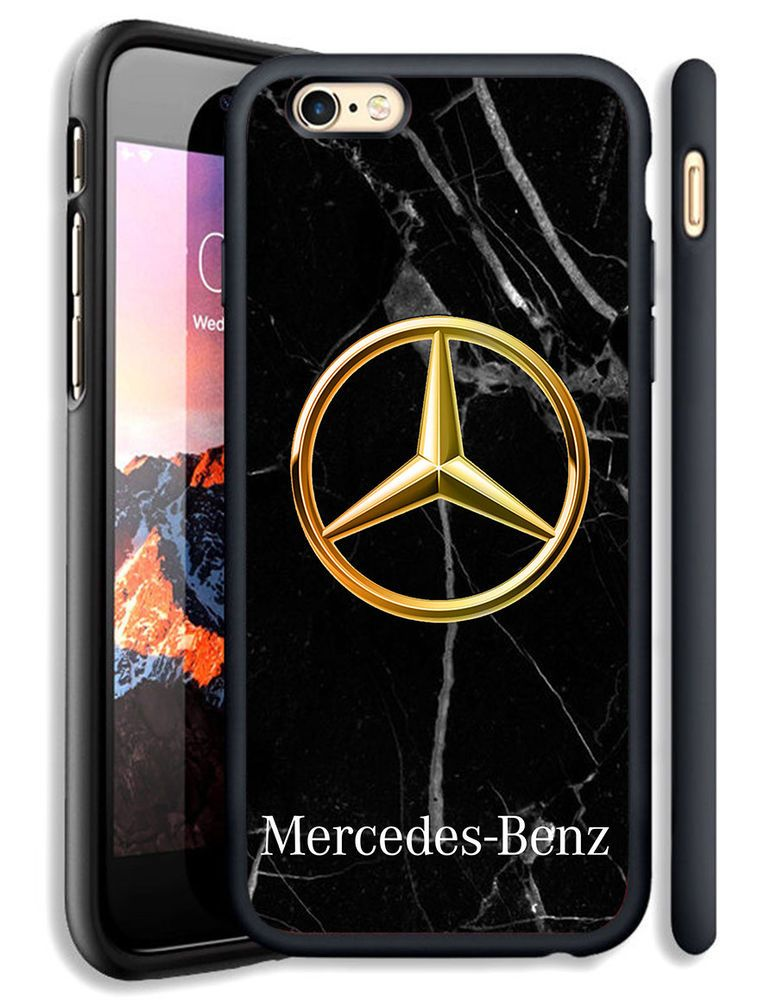 6b407464d9b139 Marble Mercedes Benz Gold Fit Hard Case For iPhone 6 6s Plus 7 8 ...
