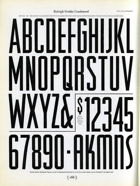 Raleigh Gothic Condensed Typography Alphabet Typography Typography Design