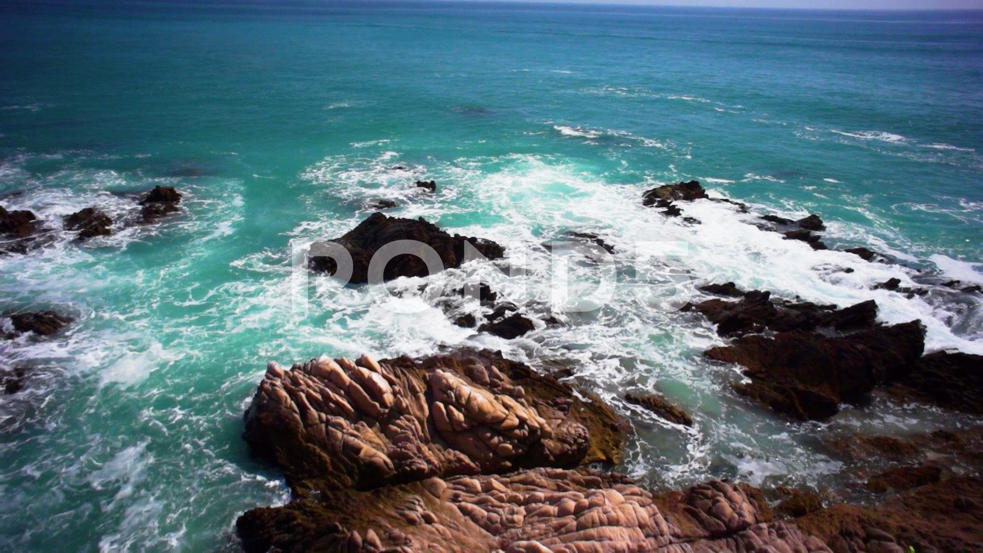 Aerial Drone Flying Over Rocky Land And Ocean Waves Stock Footage Ad Flying Rocky Aerial Drone Ocean Waves Aerial Drone Ocean Shores
