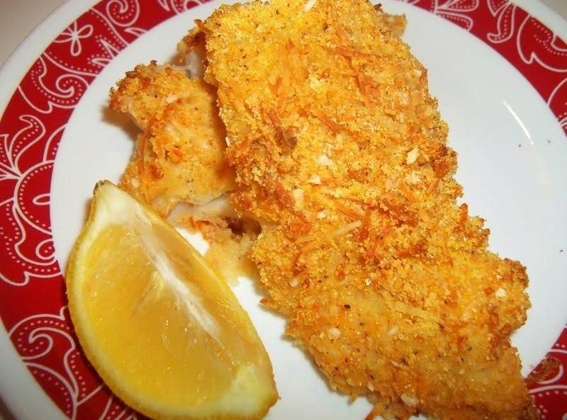 Delicious Oven Fried Cod Delicious Oven Fried Cod meal Dish Flaky