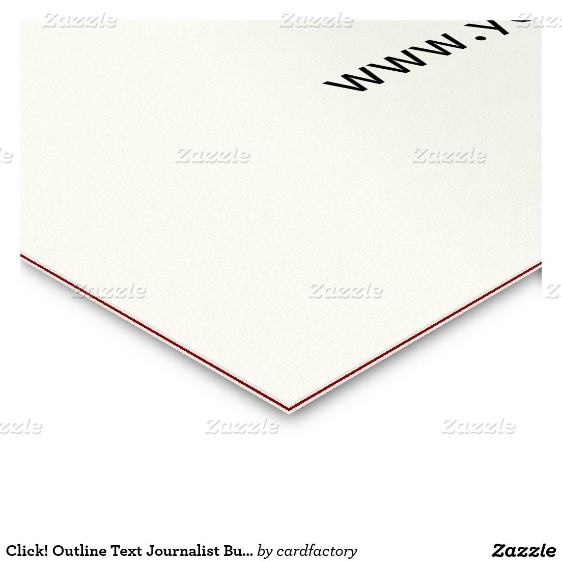Click outline text journalist business card outlines business outline text journalist business card colourmoves