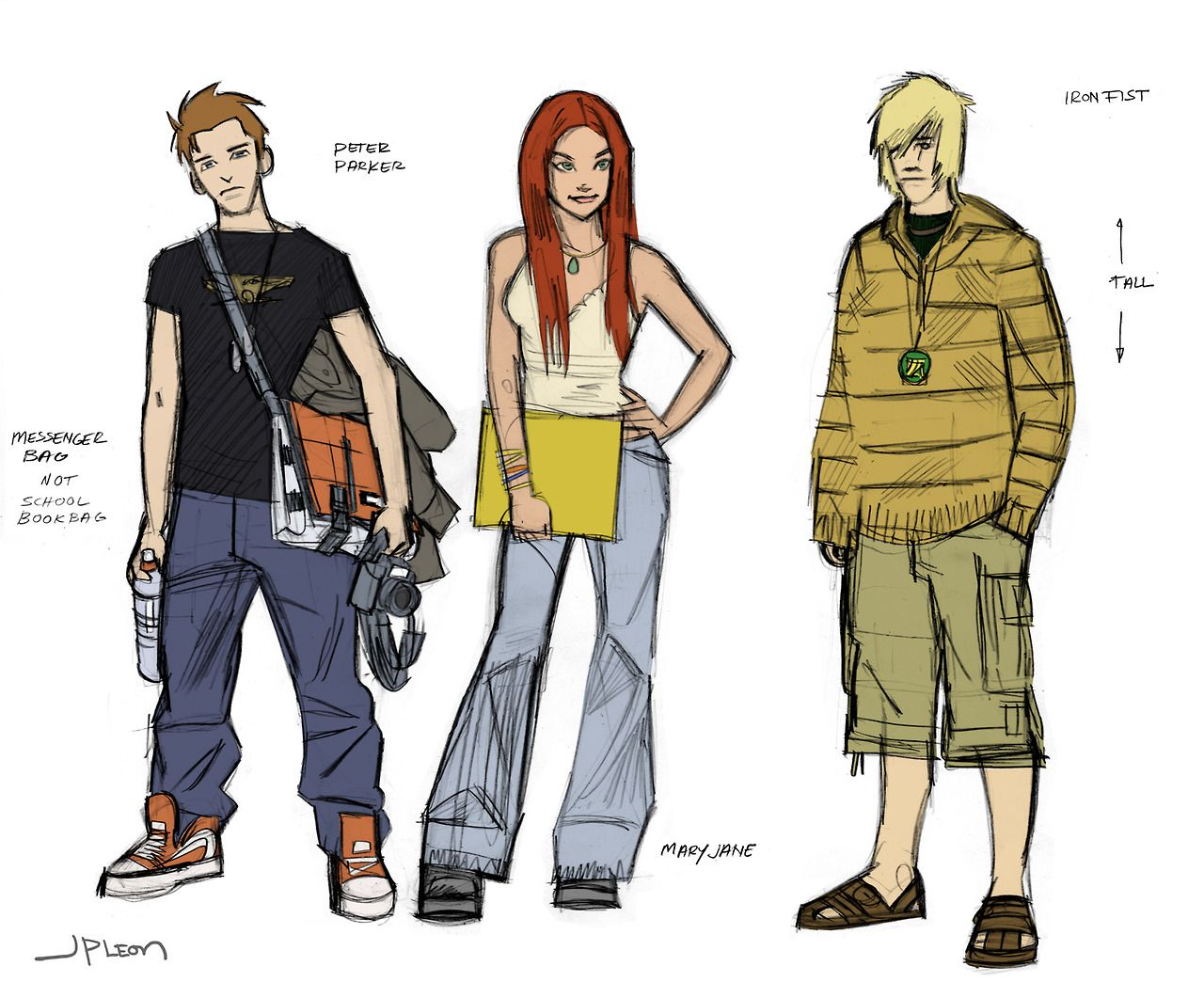 Peter Parker, Mary Jane, and Iron Fist by John Paul Leon *
