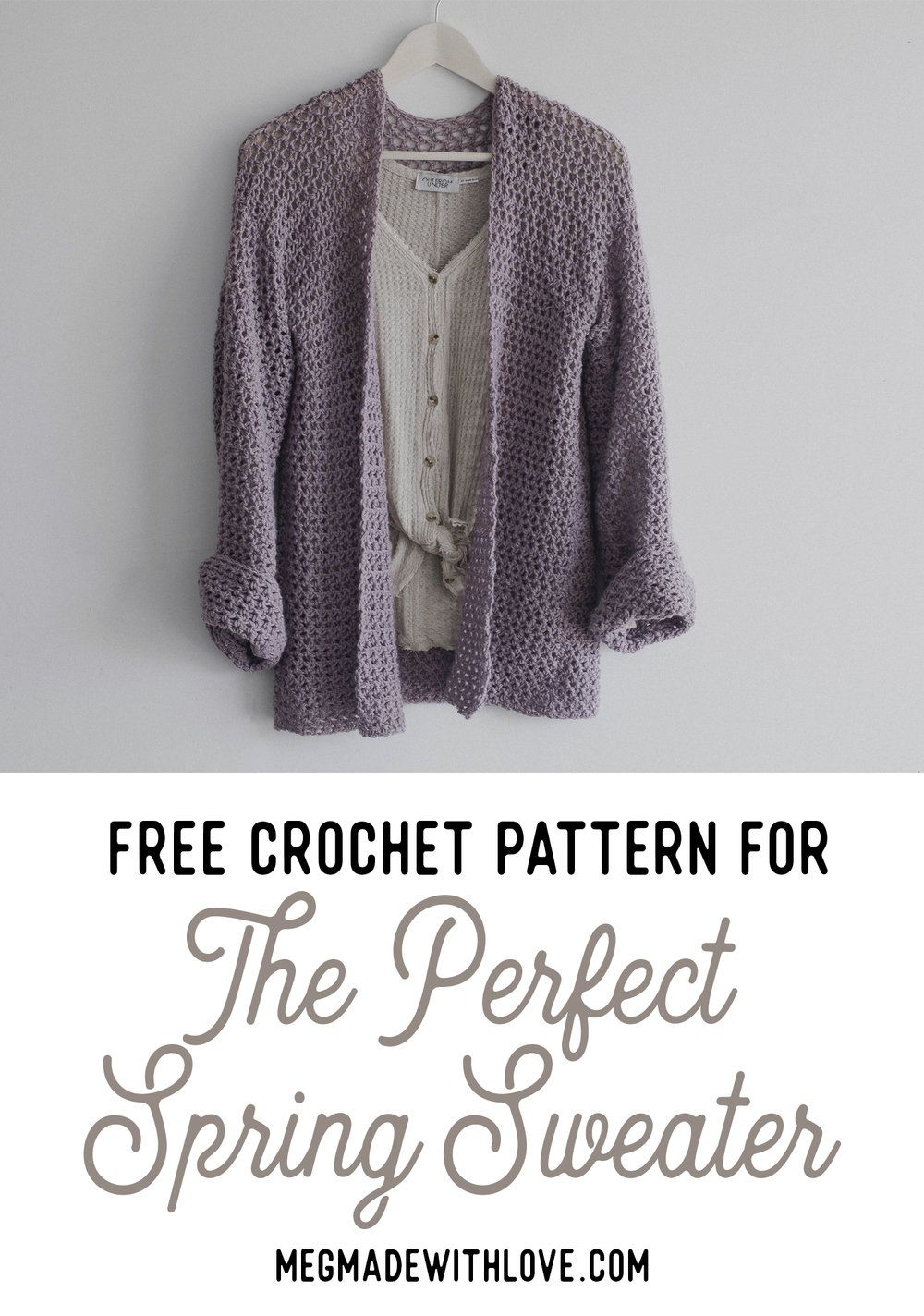 Free Crochet Pattern For The Perfect Spring Sweater Crochet
