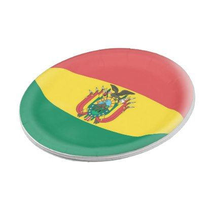 Bolivia Bolivian Flag Paper Plate - kitchen gifts diy ideas decor special unique individual customized