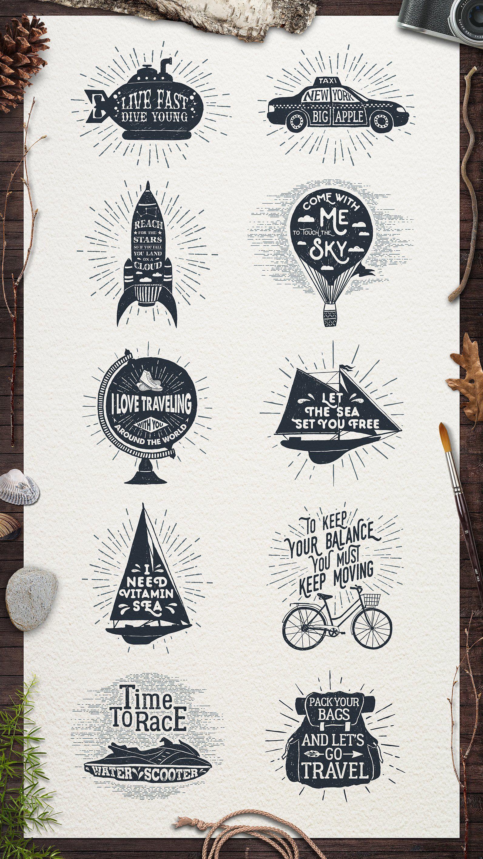 Adventure vintage badges part list pdf free download also vector rh ar pinterest