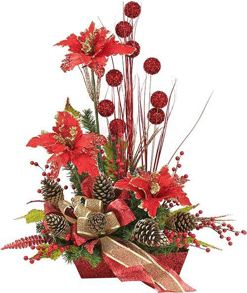 Arreglo de nochebuena rojo navidad 2014 adorno - Adornos de navidad 2014 ...
