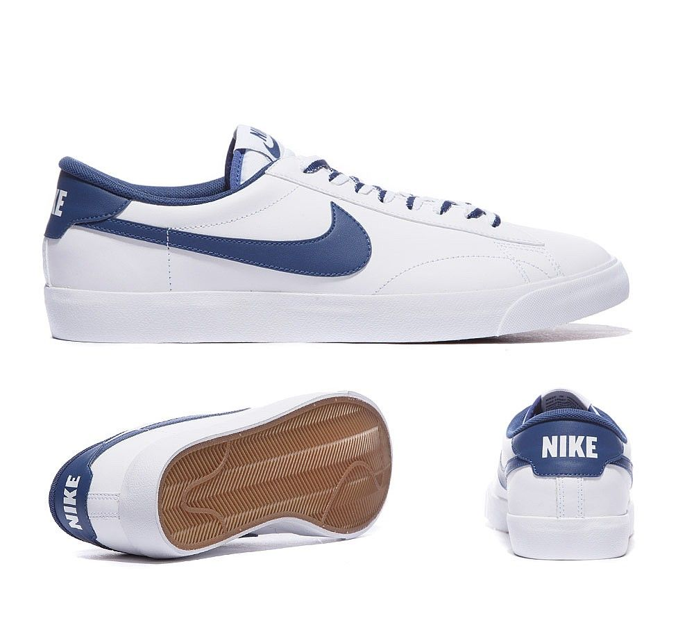 nike tennis classic trainers blue