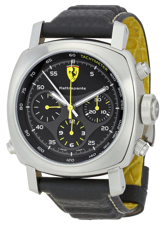 Panerai Ferrari Fer00010 Scuderia Rattrapante Ferrari Watch Panerai Ferrari Watches For Men