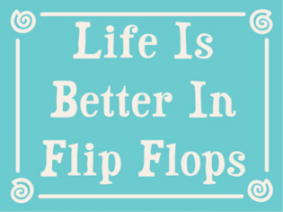 I promise you this is true:) Flip flops free you...they make you want to skip and blow bubbles in the wind!!! I'm telling you...it's the truth:)