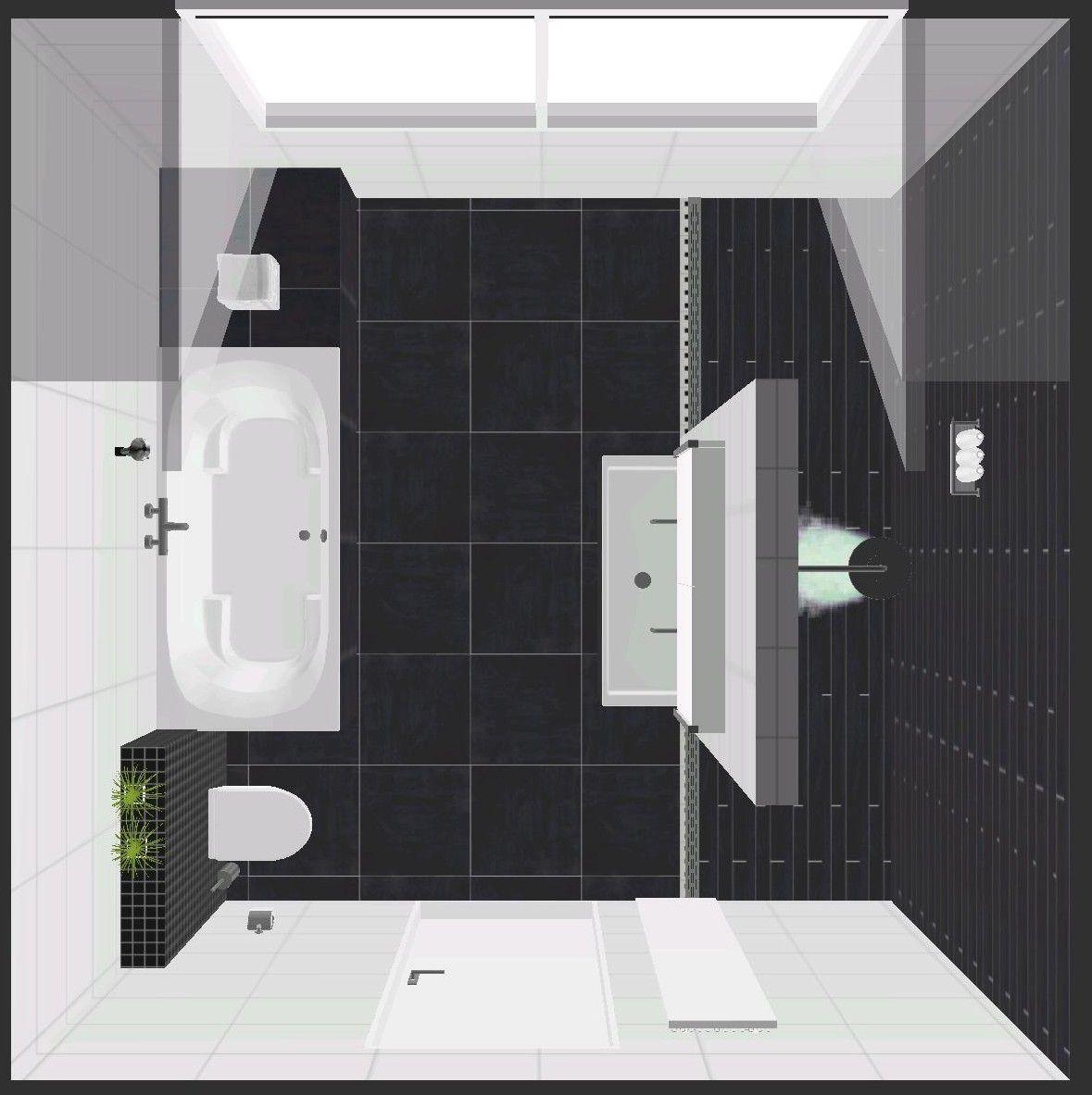 moderne badkamer met bubbelbad beterbad, inloopdouche, inbouw ...