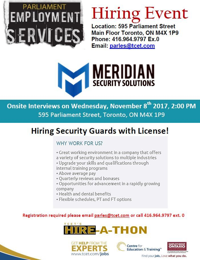 Have a security license and looking for work in the Security field ...