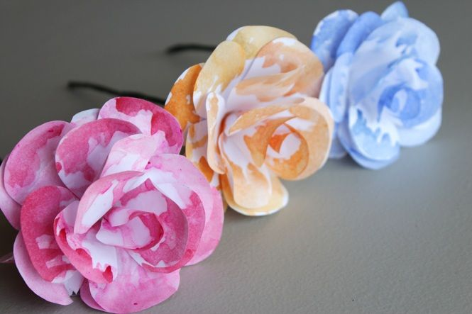 Diy Watercolor Paper Flowers Watercolor Paper Craft Ideas And