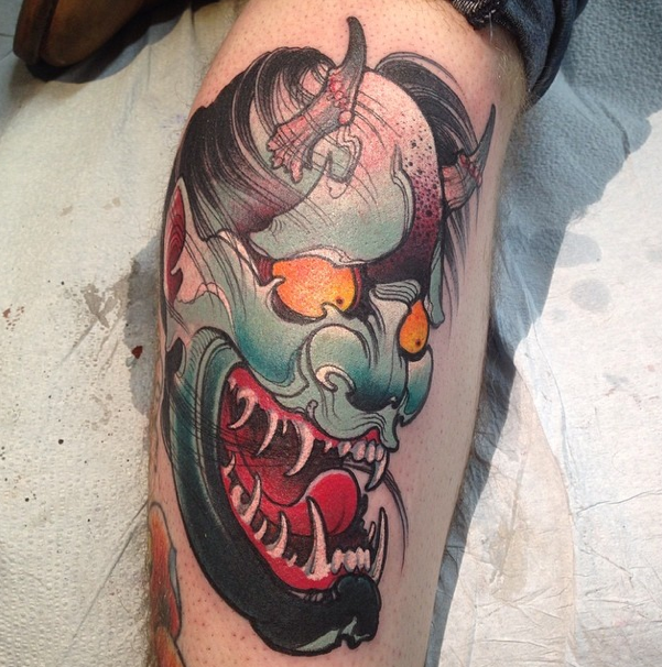 Traditional Hanya Mask Tattoo: Image Result For Jeff Gogue Hannya Mask