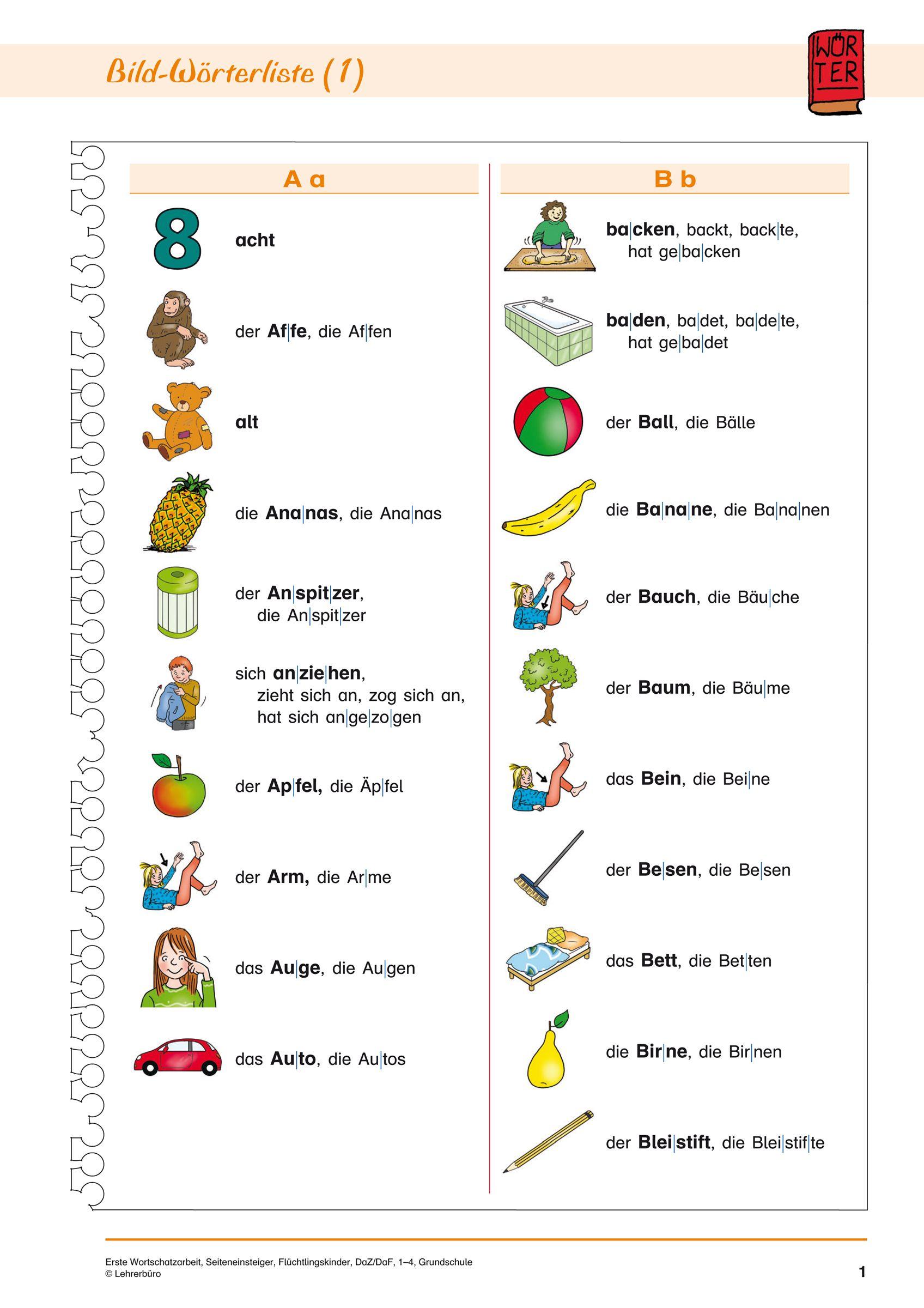 DaF/DaZ · Arbeitsblätter · Grundschule · Lehrerbüro | Nobel | Pinterest