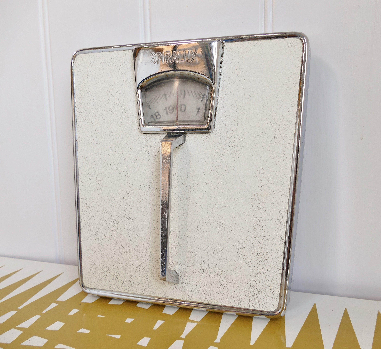 Vintage Spiralux Bathroom Scales Retro Dieting Weight