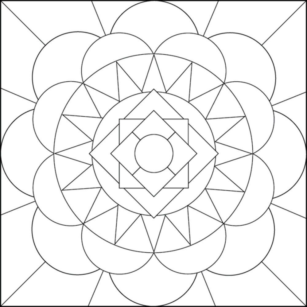 Geometric Coloring Pages For Adults Jpg 1000 1000 Geometric Coloring Pages Mandala Coloring Pages Abstract Coloring Pages