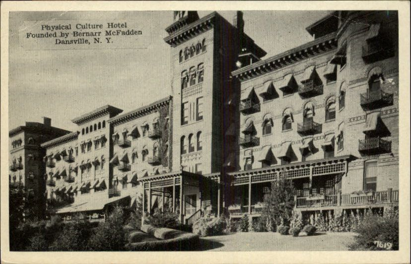 Dansville Ny Physical Culture Hotel Postcard